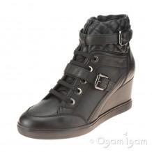 Geox Eleni Womens Black Wedge Ankle Boot