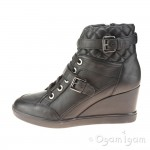Geox Eleni Womens Black Wedge Ankle Boot