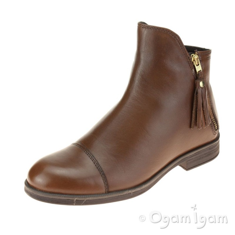 854638369f915 Geox Agata Girls Tabacco Brown Boot   Ogam Igam