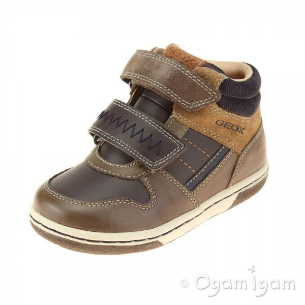 Geox Flick Boys Dark Brown Boot