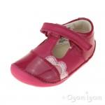 Clarks Little Caz Infant Girls Pink Shoe