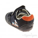 Clarks Tiny Tom Infant Boys Navy Shoe