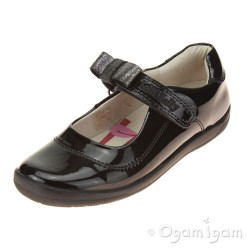 Lelli Kelly Lexis Girls Black Patent School  Shoe