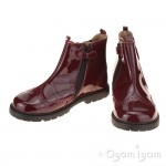 Start-rite Chelsea Girls Wine Patent Boot