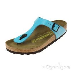 Birkenstock Gizeh Womens Blue Patent Sandal