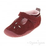 Start-rite Polly Infant Girls Wine Red Shoe