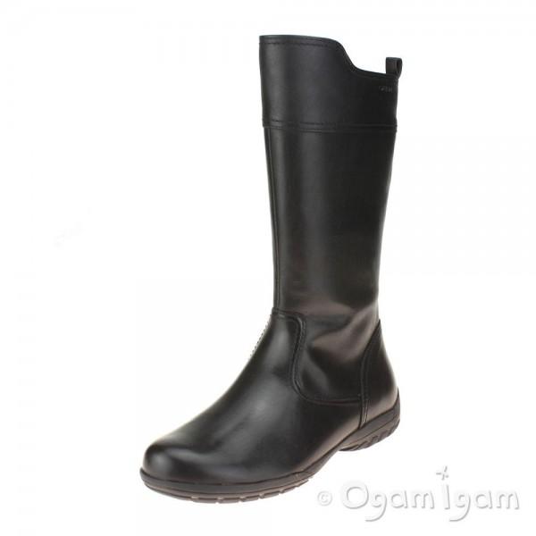 Geox Crissy Girls Tall Black Boot