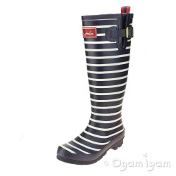 Joules French Navy Stripe Womens Navy Wellington Boot