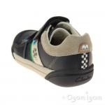 Clarks LilfolkCub Pre Boys Navy Shoe