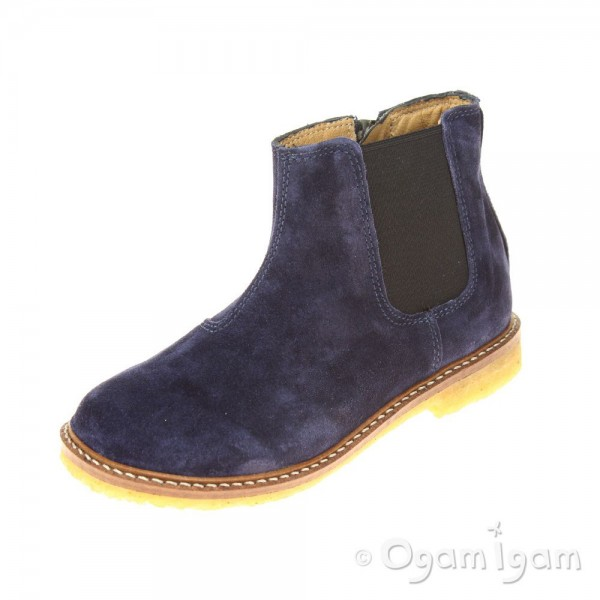 Pom D'Api Suzet Jodzip Girls Encre Blue Boot