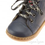 Shoo Pom Bouba Pad Lace Infant Boys Dark Blue Boot