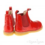 Angulus 6320 Stitched Chelsea Girls Red Patent Boot