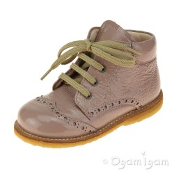 Angulus 2378 Lace-up Infant Girls Rose Boot