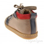 Shoo Pom Bouba Bi Zip Taupe Boys Taupe-Navy Boot