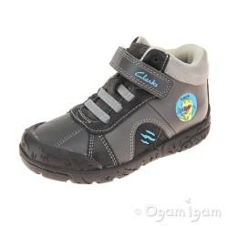 Clarks BrontoRoar Inf Boys Grey Boot