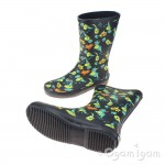 Clarks TarriStompoJnr Boys Green Wellington Boot