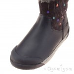 Clarks LilfolkRae Pre Girls Anthracite Boot