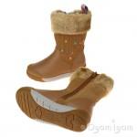 Clarks LilfolkRae Pre Girls Tan Boot