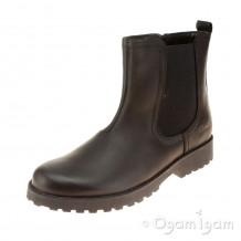 Clarks Rhea Amber Jnr Girls Black Boot