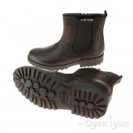 Clarks Rhea Amber Jnr Girls Black Boot