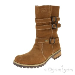 Primigi Veryanna Girls Cuoio Brown Waterproof Boot