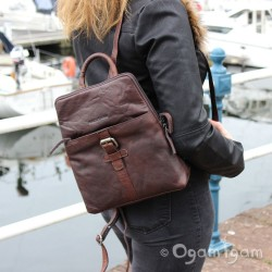 Spikes and Sparrow 24547 Womens Dark Brown Backpack