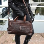 Spikes and Sparrow 24598 Dark Brown Holdall Bag