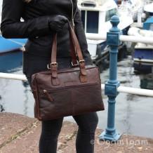 Spikes and Sparrow Dark Brown Shoulder Bag