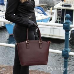 Vera Pelle Womens Berry Handbag