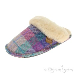Bedroom Athletics Kate Womens Lilac-Blue Check Slipper