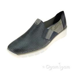 Rieker 5375712 Womens Blue Shoe