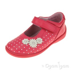 Start-rite Supersoft Daisy Girls Bright Pink Shoe