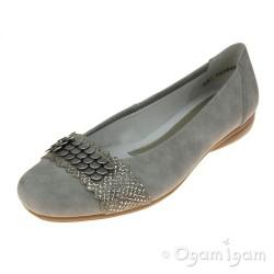 Rieker L836041 Womens Grey Shoe