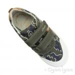 Clarks Comic Zone Inf Boys Khaki Shoe