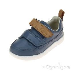 Clarks Tri Aspire Fst Boys Denim Blue Shoe