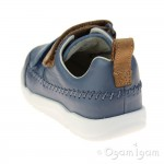 Clarks Tri Aspire Fst Boys Denim Blue Shoe