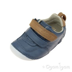 Clarks Tiny Aspire Infant Boys Denim Blue Shoe
