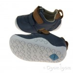 Clarks Tiny Aspire Infant Boys Denim Blue Shoe