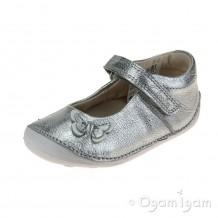 Clarks Little Mia Girls Silver Shoe