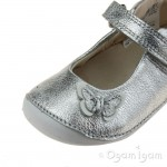 Clarks Little Mia Girls Silver Shoe