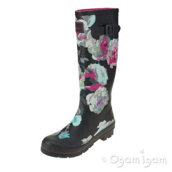 Joules Grey Beau Bloom Womens Grey Welly