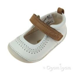 Clarks Little Atlas Infant Girls White Shoe