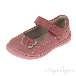 Clarks Softly Wow Fst Girls Vintage Pink Shoe