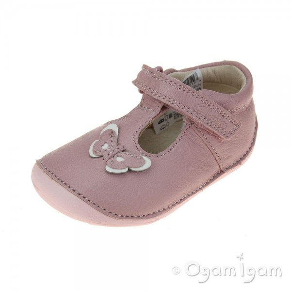 Clarks Little Wow Girls Baby Pink Shoe