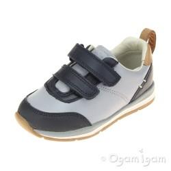Clarks Ferris Cap Fst Boys Blue Combi Shoe