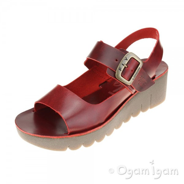 Fly London Yail Womens Red Sandal