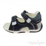 Geox Tapuz Boys Navy-White Sandal