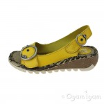Fly London Tram Womens Yellow Lemon Sandal