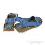 Fly London Tram Womens Smurf Blue Sandal