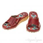 Fly London Kert Womens Red Sandal